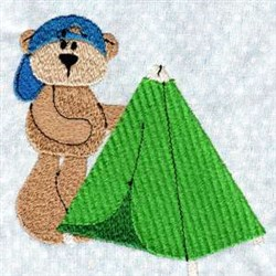 Tent Bear embroidery design