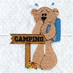 Camping Backpack Bear embroidery design