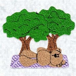 Bear Trees embroidery design
