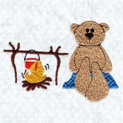 Camp Cooking embroidery design