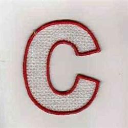 Canada C embroidery design