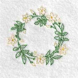 Blossoms Jar Lid embroidery design