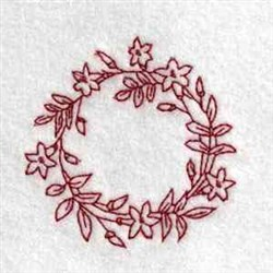 Flower Canning Lid embroidery design