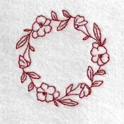 Floral Canning Lid embroidery design