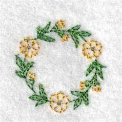 Blossoms Canning Lid embroidery design