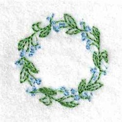 Canning Lid Florals embroidery design