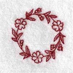Flower Can Top embroidery design