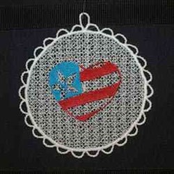 Sun Catcher Patriotic embroidery design