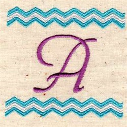 Chevron A embroidery design