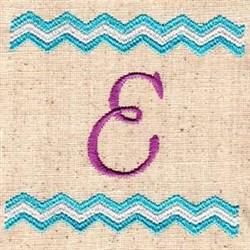Chevron E embroidery design