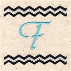 Chevron F embroidery design
