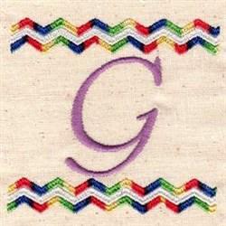 Chevron G embroidery design