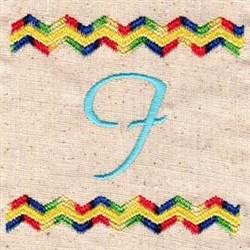 Chevron I embroidery design