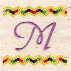 Chevron M embroidery design