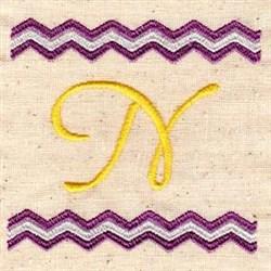 Chevron N embroidery design