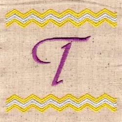 Chevron T embroidery design