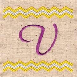 Chevron U embroidery design