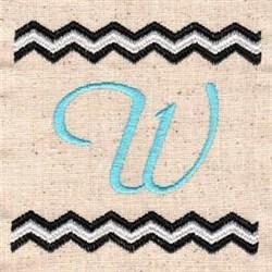 Chevron W embroidery design