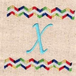 Chevron X embroidery design