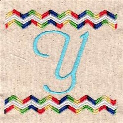Chevron Y embroidery design