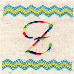Chevron Z embroidery design
