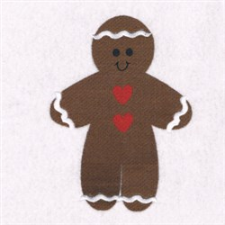 Gnigerbread Man Cookie embroidery design