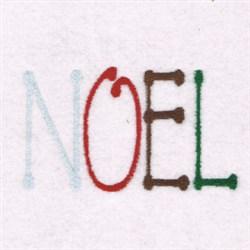 Festive Noel embroidery design