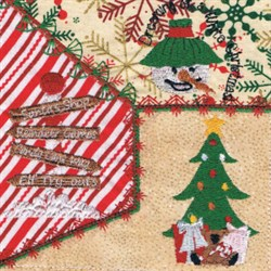Christmas Square embroidery design