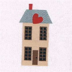 Heart House embroidery design