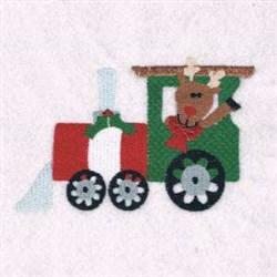 Reindeer Engine embroidery design