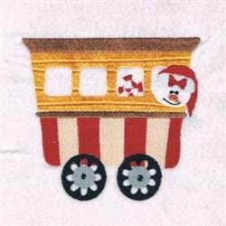Snowman Train embroidery design