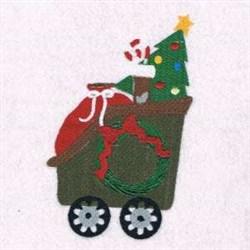 Tree Train embroidery design