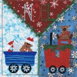 Noel Square embroidery design