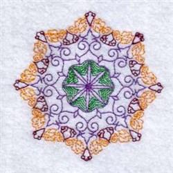 Snowflake Circle embroidery design