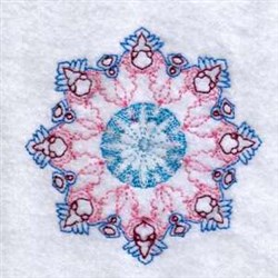 Circle Snowflake embroidery design