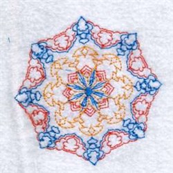 Color Snowflake Circle embroidery design