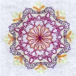 Colorful Decor Circle embroidery design
