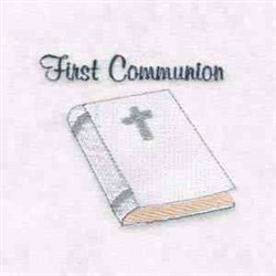 First Communion Bible embroidery design