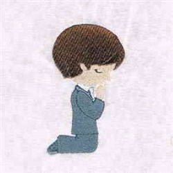 Praying Boy embroidery design