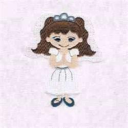 Communion Girl embroidery design