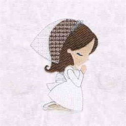 Praying Girl embroidery design