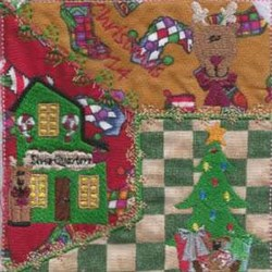 Christmas Quilt Square embroidery design