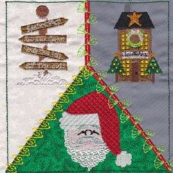 North Pole Quilt Square embroidery design