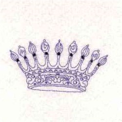 Royalty Crown embroidery design