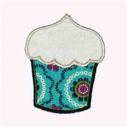 Floral Cupcake embroidery design
