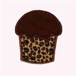 Leopard Cupcake embroidery design