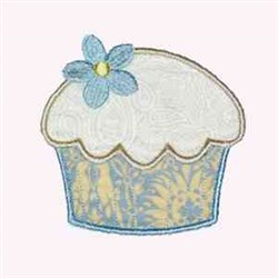 Flower Cupcake embroidery design
