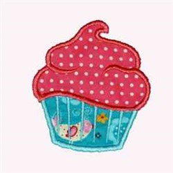 Bird Cupcake embroidery design
