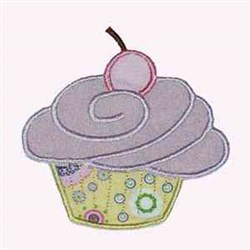 Cupcake Cherry embroidery design