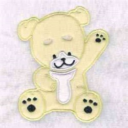 Waving Puppy embroidery design